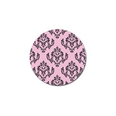 Damask Black On Pink Golf Ball Marker (10 Pack) by TimelessDesigns