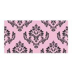 Damask Black On Pink Satin Wrap by TimelessFashion