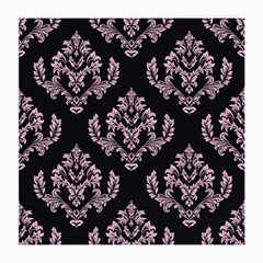 Damask Pink On Black Medium Glasses Cloth (2-side) by TimelessDesigns