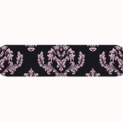 Damask Pink On Black Large Bar Mats by TimelessDesigns