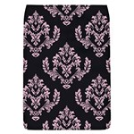 Damask Pink On Black Removable Flap Cover (L) Front