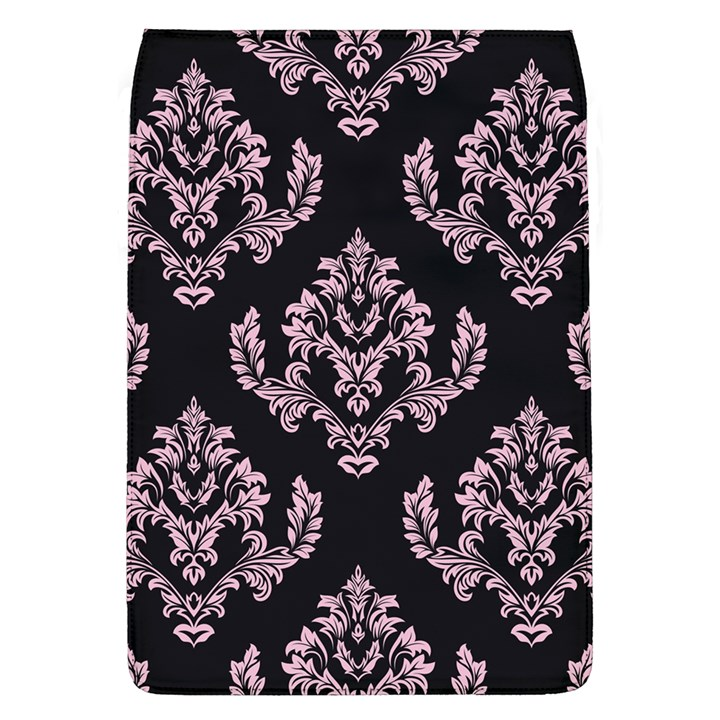 Damask Pink On Black Removable Flap Cover (L)