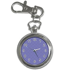 Damask In Blue Key Chain Watches by TimelessFashion