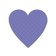 Damask In Blue Heart Magnet by TimelessDesigns