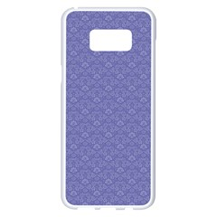 Damask In Blue Samsung Galaxy S8 Plus White Seamless Case by TimelessDesigns