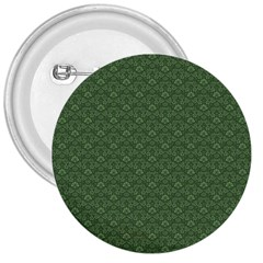 Damask In Green 3  Buttons by TimelessDesigns