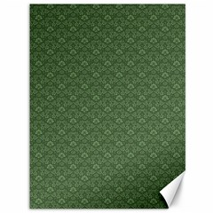 Damask In Green Canvas 36  X 48  by TimelessDesigns