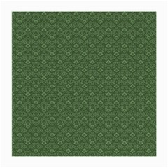 Damask In Green Medium Glasses Cloth