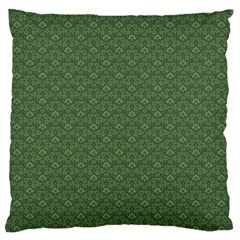 Damask In Green Large Flano Cushion Case (one Side) by TimelessDesigns