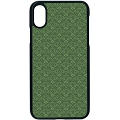 Damask In Green Apple Iphone Xs Seamless Case (black)