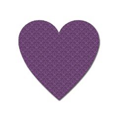 Damask In Purple Heart Magnet by TimelessDesigns