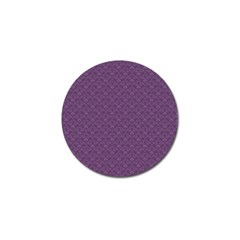 Damask In Purple Golf Ball Marker by TimelessDesigns