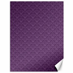 Damask In Purple Canvas 36  X 48  by TimelessDesigns