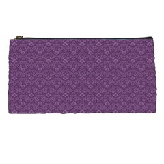 Damask In Purple Pencil Cases by TimelessDesigns