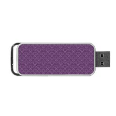 Damask In Purple Portable Usb Flash (one Side) by TimelessDesigns