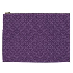 Damask In Purple Cosmetic Bag (xxl)