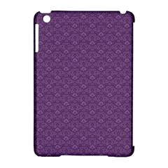 Damask In Purple Apple Ipad Mini Hardshell Case (compatible With Smart Cover) by TimelessDesigns