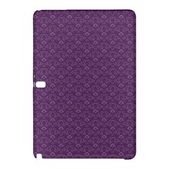 Damask In Purple Samsung Galaxy Tab Pro 10 1 Hardshell Case by TimelessDesigns