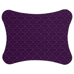 Damask In Purple Jigsaw Puzzle Photo Stand (bow)
