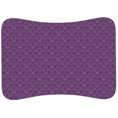 Damask In Purple Velour Seat Head Rest Cushion by TimelessDesigns