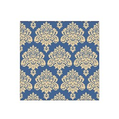 Damask Yellow On Blue Satin Bandana Scarf by TimelessFashion