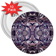 Abstract #8   Iii   Aquatic 6000 3  Buttons (10 Pack)