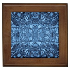 Abstract #8   Iii   Blue 6000 Framed Tiles