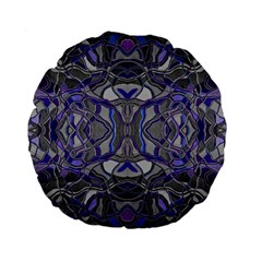 Abstract #8   Iii   Blue Pop 6000 Standard 15  Premium Flano Round Cushions