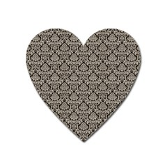 Dream In Damask  Heart Magnet by TimelessDesigns