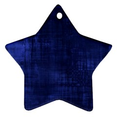 Fabric In Blue Ornament (star)