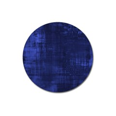 Fabric In Blue Magnet 3  (round) by TimelessDesigns