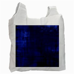 Fabric In Blue Recycle Bag (one Side)