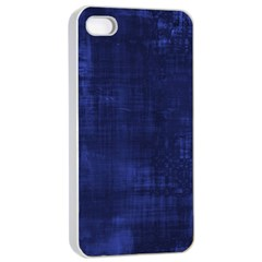 Fabric In Blue Apple Iphone 4/4s Seamless Case (white)