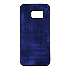 Fabric In Blue Samsung Galaxy S7 Black Seamless Case