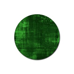 Fabric In Green Rubber Round Coaster (4 Pack)  by TimelessDesigns