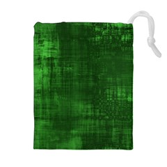 Fabric In Green Drawstring Pouch (xl)