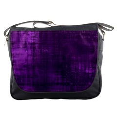 Fabric In Purple Messenger Bag