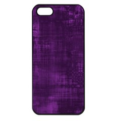 Fabric In Purple Apple Iphone 5 Seamless Case (black)