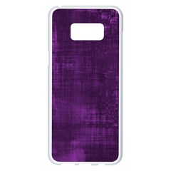 Fabric In Purple Samsung Galaxy S8 Plus White Seamless Case by TimelessDesigns