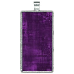 Fabric In Purple Rectangle Necklace by TimelessFashion