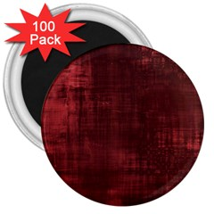 Fabric In Red 3  Magnets (100 Pack)