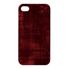 Fabric In Red Apple Iphone 4/4s Hardshell Case