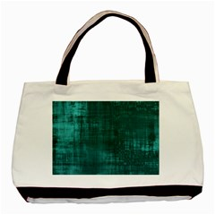 Fabric In Turquoise Basic Tote Bag