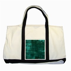 Fabric In Turquoise Two Tone Tote Bag