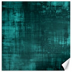 Fabric In Turquoise Canvas 12  X 12  by TimelessDesigns