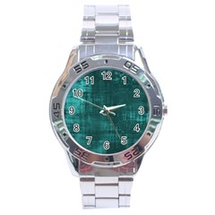 Fabric In Turquoise Stainless Steel Analogue Watch