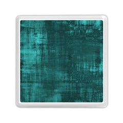 Fabric In Turquoise Memory Card Reader (square) by TimelessDesigns