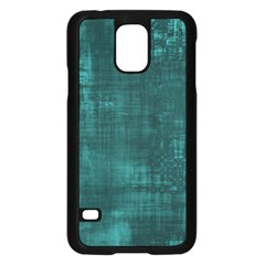 Fabric In Turquoise Samsung Galaxy S5 Case (black)