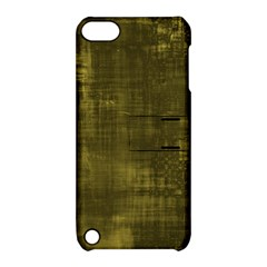 Fabric In Yellow Apple Ipod Touch 5 Hardshell Case With Stand