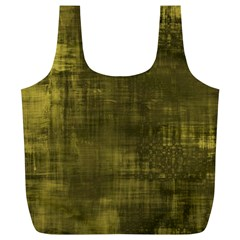 Fabric In Yellow Full Print Recycle Bag (xl) by FEMCreations